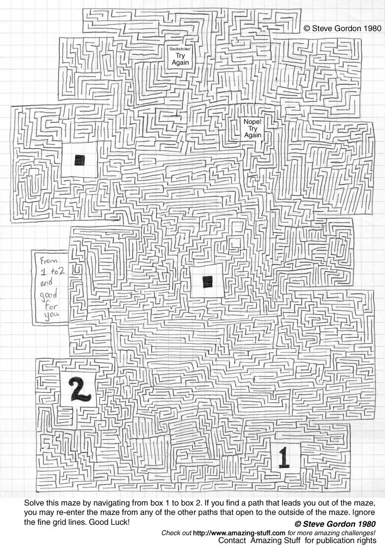 Very Difficult Maze Challenge